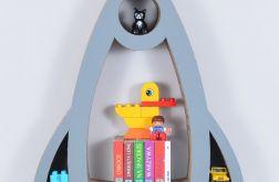 Półka na książki zabawki RAKIETA | szary