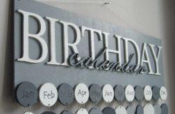 Kalendarz rodzinny, kalendarz urodzin, drewniany kalendarz, dowolne kolory i napisy 02