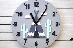 Zegar dla dziecka z tipi