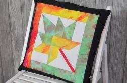 Poduszka patchwork ręcznie farbowane tkaniny
