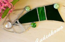 Anioł Zielony - technika Tiffany'ego