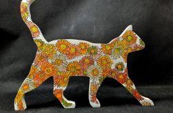 Drewniany malowany Kot