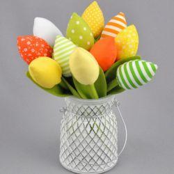 Mini tulipany, kwiaty z materiału