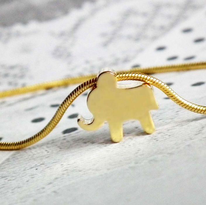 Bransoletka słonik złoty