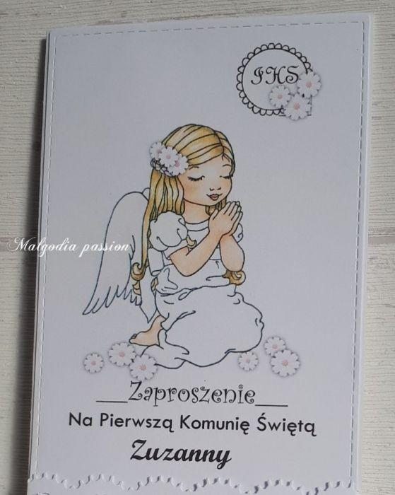 Zaproszenie z aniołkiem