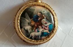 Złocony medalion ,,Boże Narodzenie''