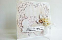 Kartka ślubna pastelowa wzór