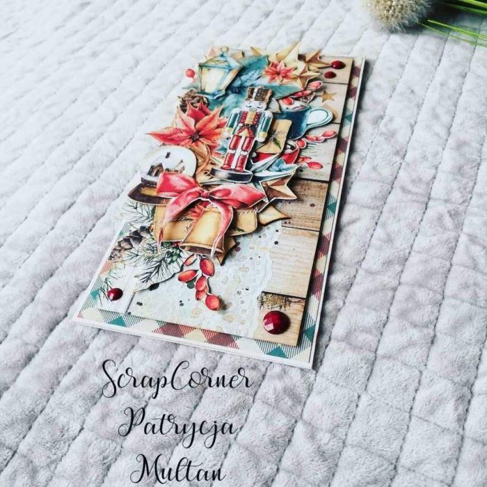Kartka świąteczna w czerwieni