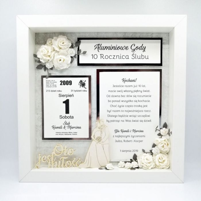 Piękna Ramka 3D na Rocznicę Ślubu