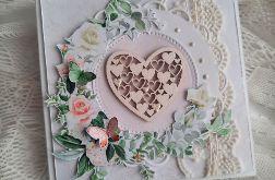 romantyczna kartka ślubna
