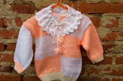 Sweterek dla dziewczynki na drutach