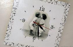 Zegar z dziećmi retro vintage shabby chic