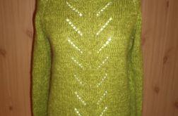 sweter z ażurem wełna ,moher