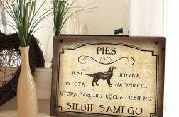 Zawieszka Tabliczka rustykalna obrazek Pies Prezent
