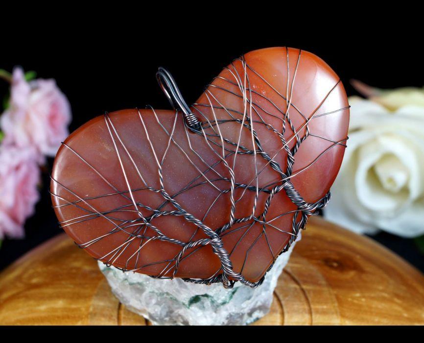 Drzewko Szczęścia zawieszka z agatem serce