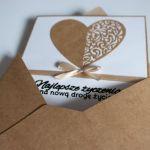 Kartka ślubna Najlepsze życzenia ślub - Koperta