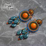 Tangerine - wielokolorowe kolczyki sutasz
