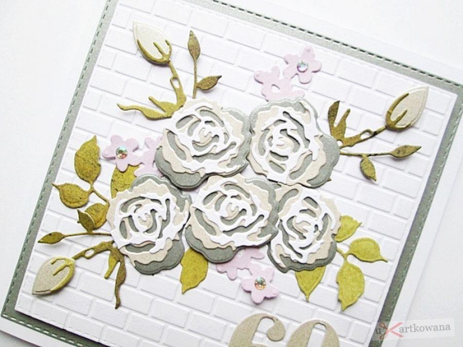 Kartka URODZINOWA z bukietem róż