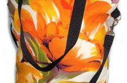 Torebka damska torba shopper wzór pomarańcz