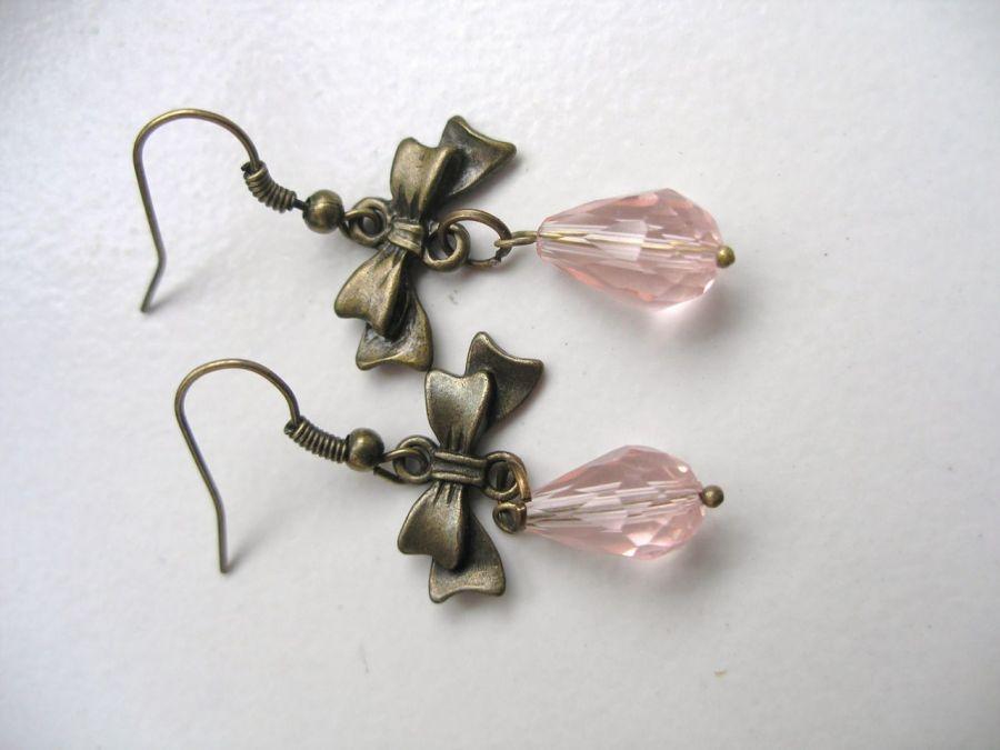 Kolczyki - różane łezki