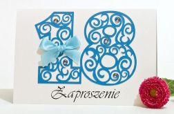 Zaproszenie na 18 osiemnaste urodziny blue