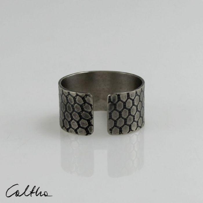 Plaster miodu - metalowa obrączka 190212-05