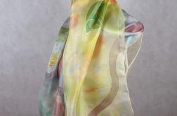 Kolorowy abstrakcyjny jedwabny szal