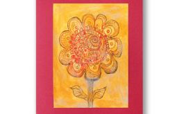 Kwiatek rysunek, kolorowy obrazek kwiat n13