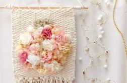 Dekoracja z kwiatami makatka biedronka kwiaty