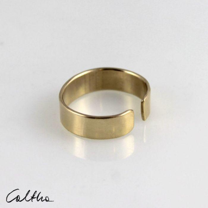 Gładka - mosiężna obrączka 191028-02 - Regulowany pierścionek