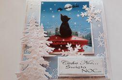 Kartka bożonarodzeniowa z kotkiem