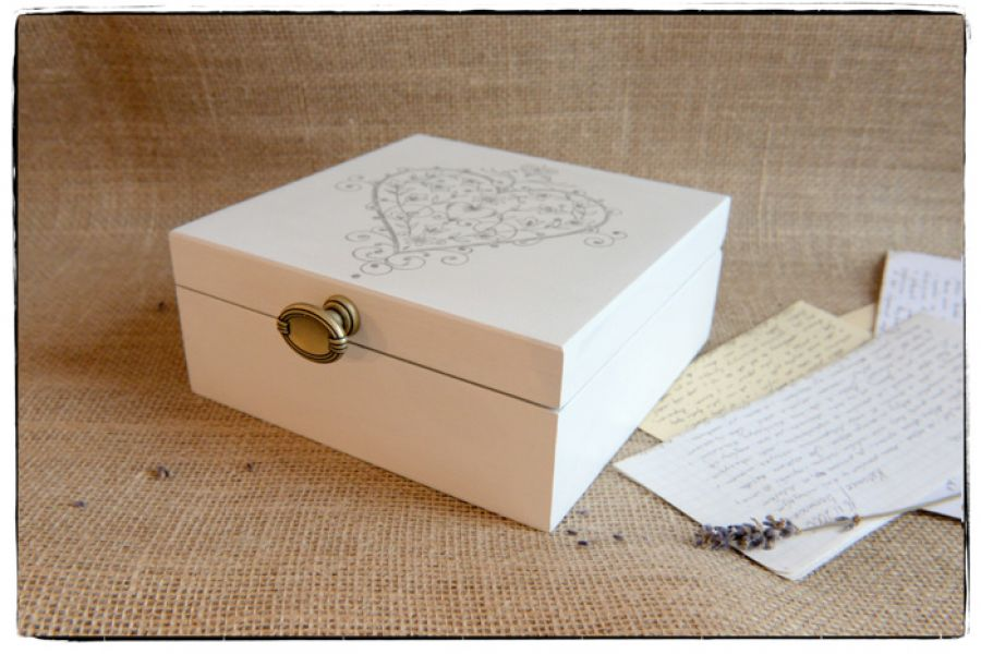 Pudełko z okazji Ślubu Młodej Parze ~Serce~