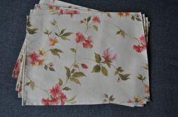 Cztery podkładki pod talerze magnolie - 40 x 30 cm