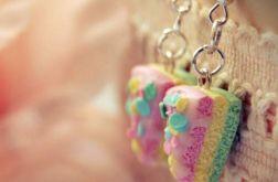 Kolczyki - pastelowe torciki