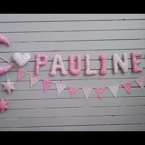Literki bawelniane 12cm*Pauline* + dekoracja