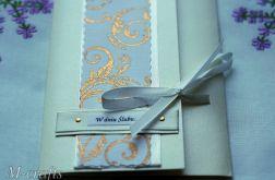 W złocie - kartka ślubna