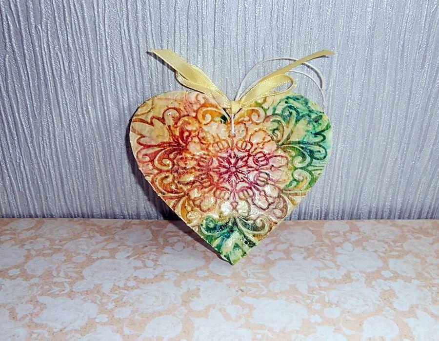 Serce z serwetkowym ornamentem