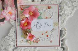 Ślubna kartka w pudełku 45