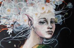 """""""Zapach jaśminu"""" obraz na płótnie 100x70cm"""