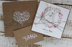 Rustykalna kartka ślubna z pudełkiem 3dsw