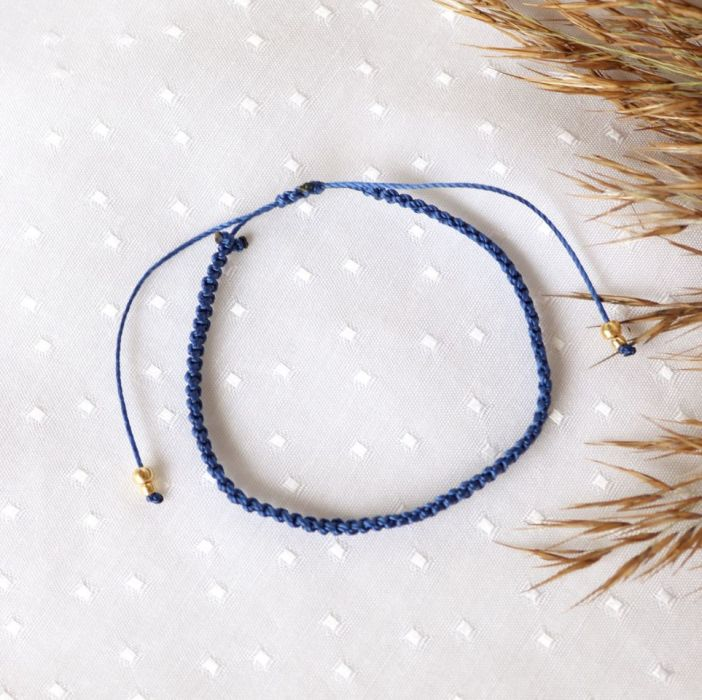 Niebieska pleciona bransoletka Relva