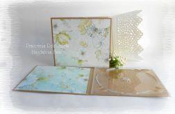 Folder na płytę, niebiesko zielony