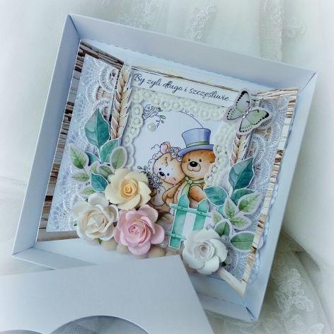 Kartka ślubna z okienkiem