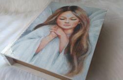 szkatułka-księga z aniołkiem dla dziewczynki