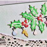 Zielone kartki świąteczne