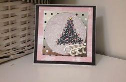 Kartka świąteczna Boże Narodzenie sanki