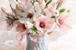 Obraz na płótnie magnolie w wazonie, 60 x 70