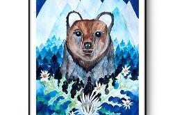 Niedźwiedź wydruk ilustracji