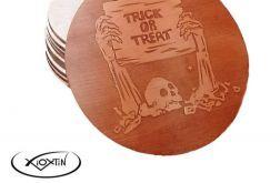 Zestaw x4 Podkładki pod kubek Halloween 1