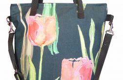 Torebka damska torba worek tulipan